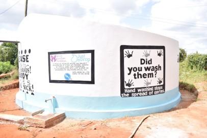 Kyeni Primary School painted water tank (Medium)